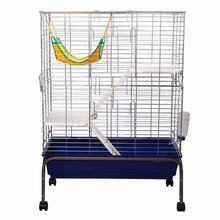 Metal Wire Guinea Pig Hutch with Wheels