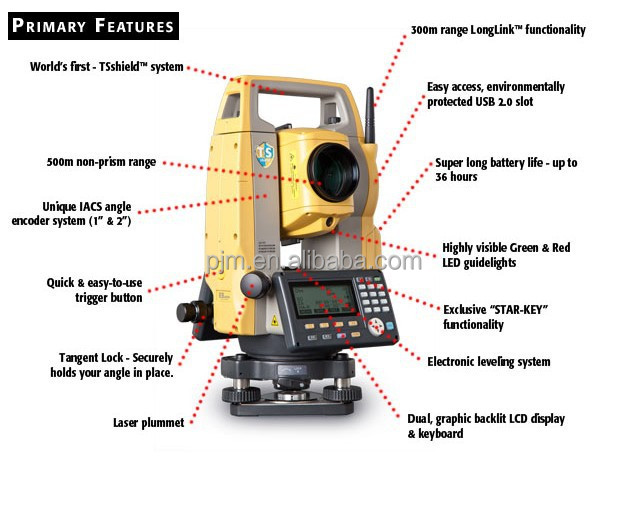 big promotion for topcon es-102/105 total station surveying equipment estacion