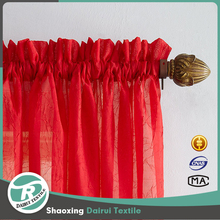 Japanese 100% polyester solid sheer voile window curtain fabric for door curtain