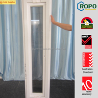 Exclusive heavy duty hinges commercial windows with lead free upvc frame