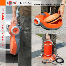 car injector cleaning machine with folding bucket