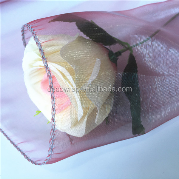 Different Colors in One Roll Floral Organza Fabric