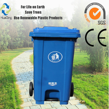 Industrial outdoor 120 litre garbage galvanized waste trolley bin