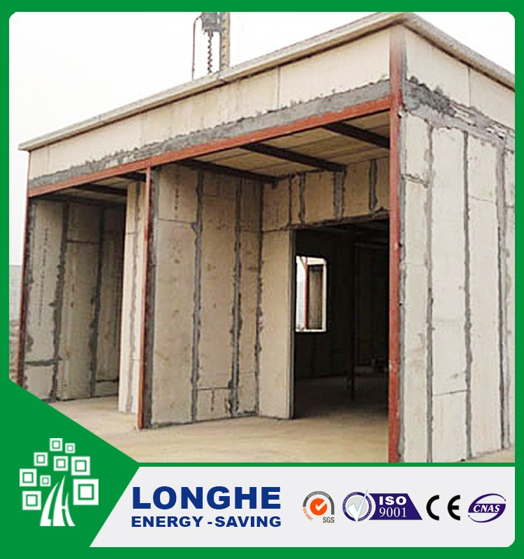 incombustible fireproof lightweight concrete sandwich panel prefabricated house 2*8