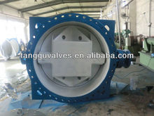 Large size Eccentric flanged butterfly valve