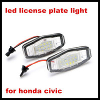 Canbus error free LED License Number Plate Light OEM Direct Fit for Honda CRVS/FR-V/Jazz Fit/Odyssey/Stream/Logo 3D/Insight 5D