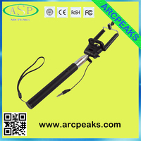 factory price cheapest cable wired monopod selfie stick