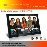 21.5 inch WIFI digital photo frame free mp3 music downloads
