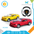 Scale 1:10 high speed steering wheel remote control toy car with PVC car shell