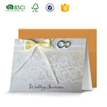 Luxurious white lace wedding invitation card models