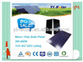195W Cheep Solar Panel 125*125Mono IEC CEC TUV