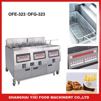 gas chicken open fryer/Stainless Steel Free Standing/Commercial Kfc Gas Open Chicken Fryer