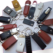 CASUN usb flash memory china manufacturer supply usb 3.0 leather usb flash drive with keychain