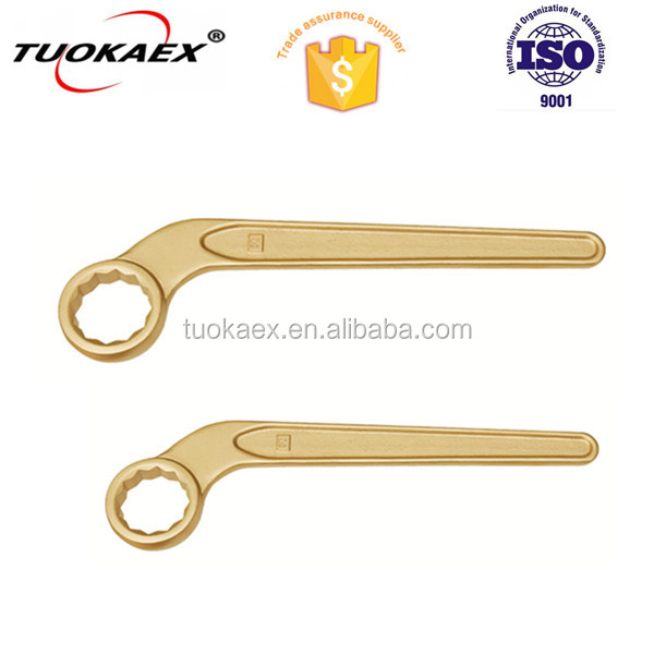 Spark Proof Non Spark Be-Cu Alloy Copper 17-80MM Single Bent HANDLE construction box wrench