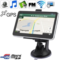 Wholesale 5.0 inch Touch-screen Car GPS Navigator with 4GB memory and Map