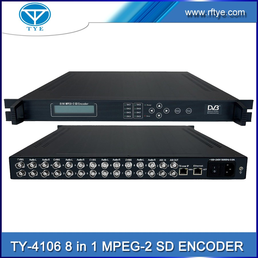 TY-4106 MPEG-1 8 in 1 Audio SD ASI input digital encoder