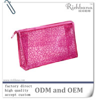 2016 fashion promotional wholesale vinyl pvc mini cosmetic bag with zipper