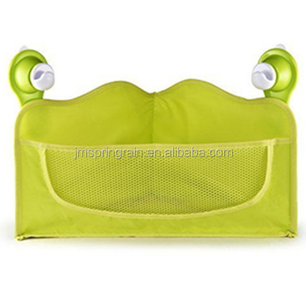 Polyester Bathroom Trilateral storage basket for baby Toy shampoo or samll accessories