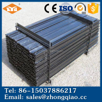 Black Bitumen Painted Fencing Steel Y Post Size for Export