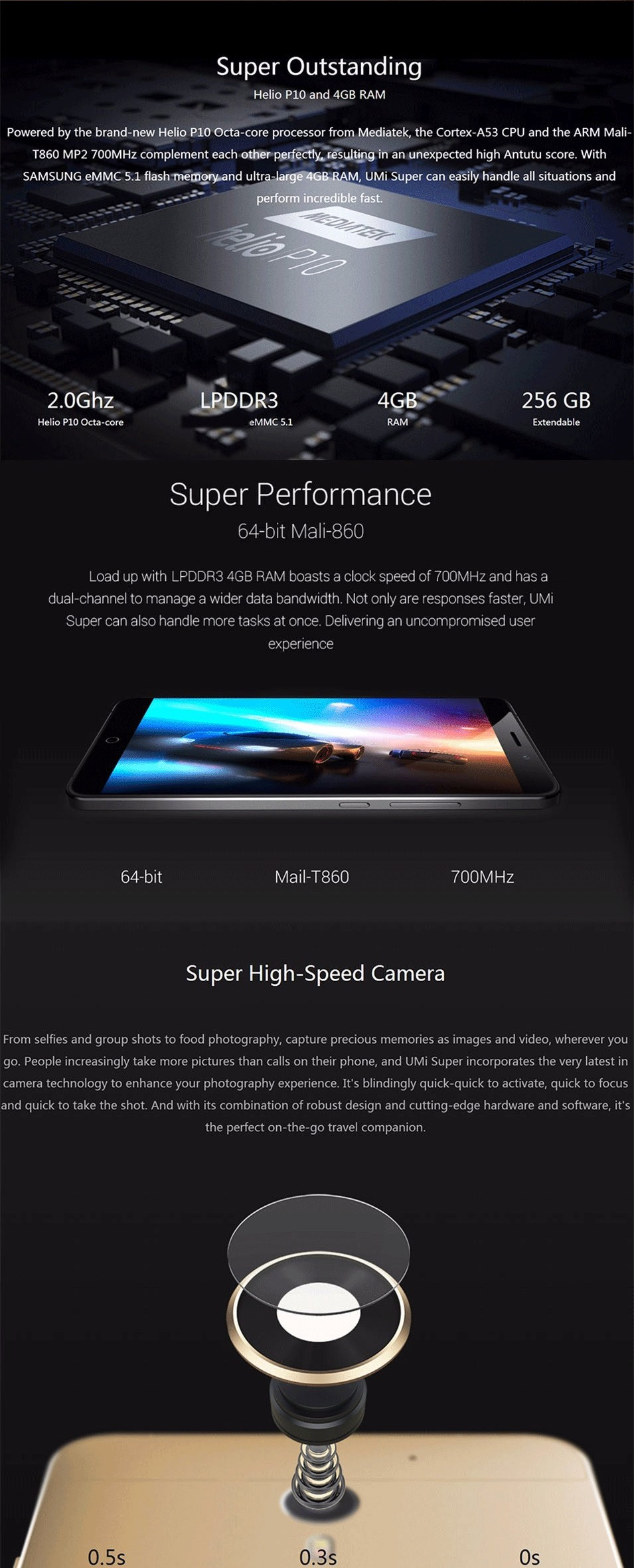 Wholesale UMI Super Smartphone 4G LTE 5.5 inch 1920x1080 FHD IPS MTK6755 Octa Core Android 6.0 Moblie Phone 13MP Camera 4000Mah