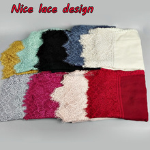 NEW nice design women cotton lace solid color plain shawls headband wrap hijab muslim scarves/scarf GBS377