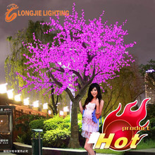 beautiful Christmas wedding decorative pink artificial outdoor led tree lights