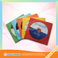 2015 China cd printing by color paper sleeve package