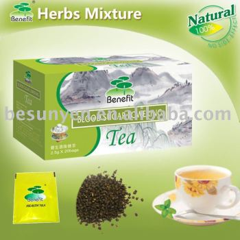 blood sugar lowering promoting blood circulation tea