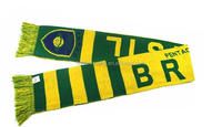 100% polyester satin printing world cup sports team knitted football scarf