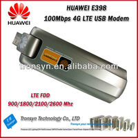 100% Original Unlock LTE FDD 100Mbps HUAWEI E398 4G LTE USB Dongle And 4G Modem