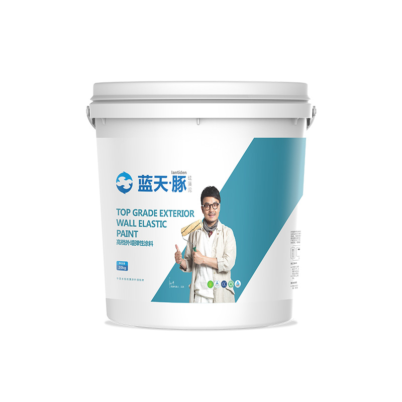 Top grade elastic exterior wall coating