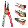 NOEBY fishing tackle multi-purpose aluminium red and blue fishing pliers