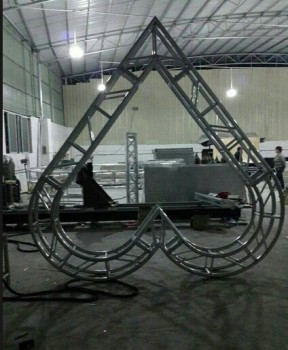 global truss for Love shape trusses aluminum square circle truss screw truss