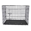 Good quality folding wire mesh luxury dog kennel pet carrier large portable dog carrier