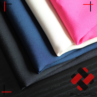 china supplier cheap shiny polyester crepe de chine fabric poly CDC for ladies apparel