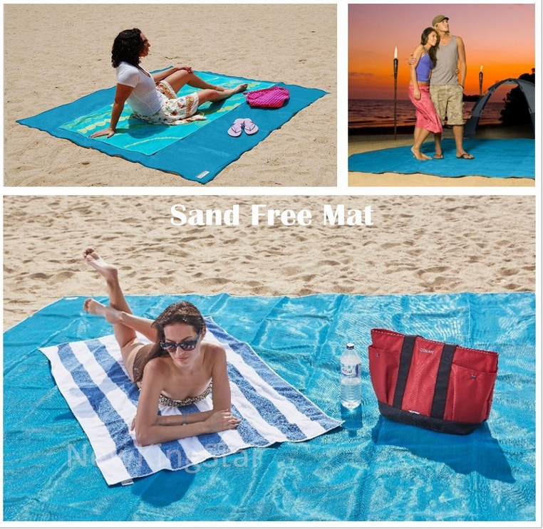 High Quality Mini Sand Free Waterproof Custom Pocket Blanket /Beach Mat Pocket Blanket Sand Free Blanket