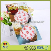 Greaseproof print paper cake cupcake with blister card packaging