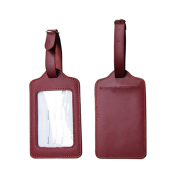 Branded Cheap Genuine or PU Leather travel Luggage Tag