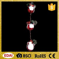 High quality plastic 3 Christmas balls in series with a chain hanging ornament festival home decoration
