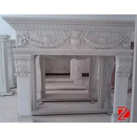 white marble classic fireplace mantels