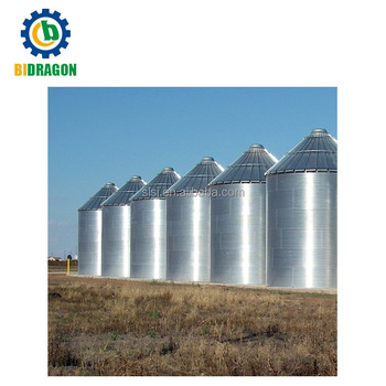 Grain steel silo used for sale sorghum silo with conveying system