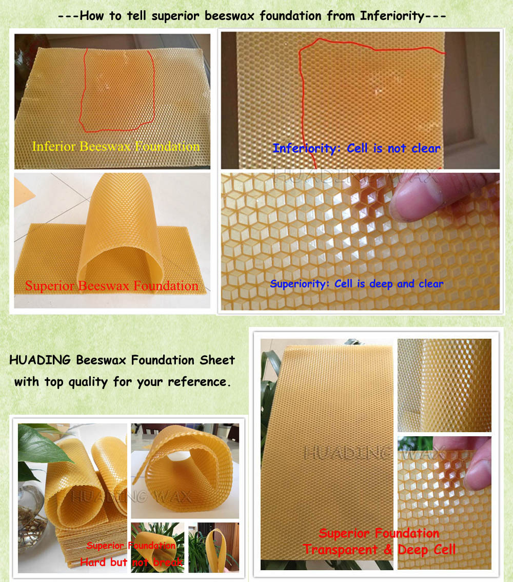 High refined beeswax sheets wholesale| Wax comb foundation for beekeeping from direct manufacturer