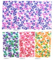 Customize Colorful Floral Printing Woven Cotton Fabric