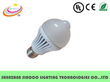 Outdoor Motion Sensor Plastic LED Light Bulbs E27 or B22 5W 7W Dimmable