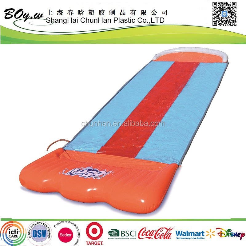 Walmart supplier OEM summer water sports outdoor giant toys kids pvc Inflatable triple waterslide