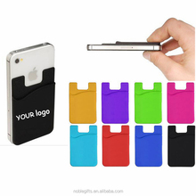 Small MOQ custom logo cheap silicone card holder wallet