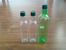 Empty different cooking oil plastic bottle size for 500ml 1000ml square shape