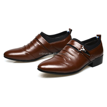 British style man fashion pointed toe business formal leather shoe