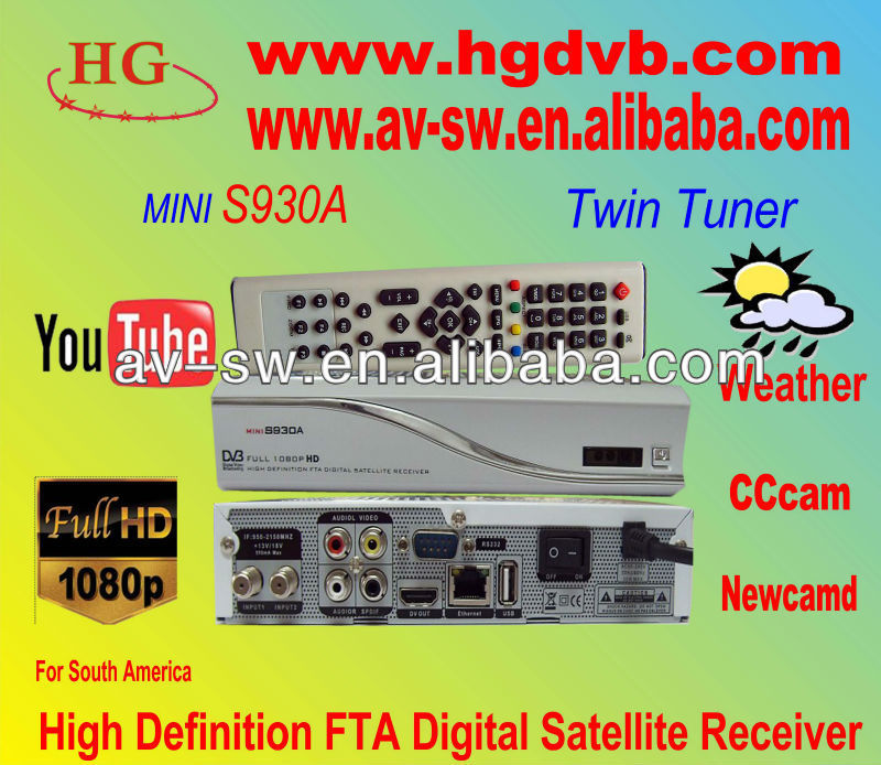 New Nagra 3 Decoder Az America S930A, Built in Dongle, IKS and SKS Free Account Inside