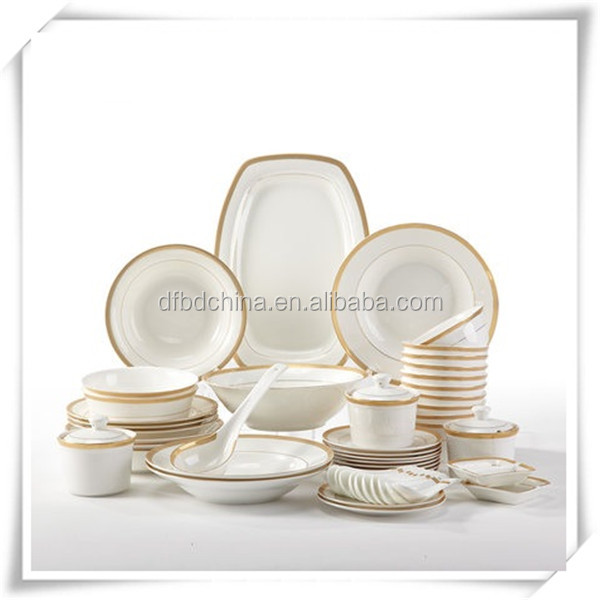 Bone china modern dinner set